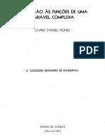 Introdução às funções de uma variável complexa