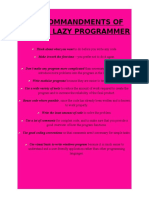 Ten Commandments of Being a Lazy Programmer