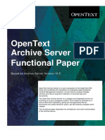 Opentext Archive Server 10 5 Functional Paper