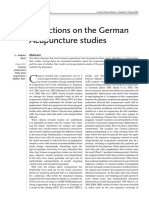 Reflections on the German Acupuncture Studies