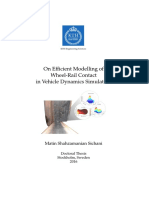 On Efficient Modelling of Wheel-Rail Contact in Vehicle Dynamics Simulation