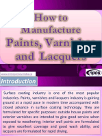 How to Manufacture Paints, Varnishes and Lacquers