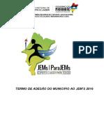 Termo de Adesão Do Municipio Ao Jem's 2016 Igarape Grande