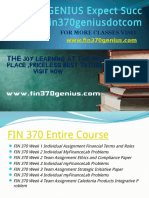 FIN 370 GENIUS Expect Success Fin370geniusdotcom