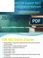 FIN 402 MASTER Expect Success Fin402masterdotcom