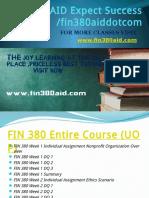 FIN 380 AID Expect Success Fin380aiddotcom
