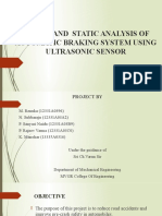 Design and Analysis of Automated Braking System Using