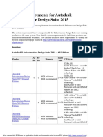 Autodesk Infrastructure Design Suite 2015 System Requirements