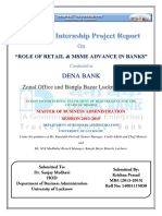 Summer Internship on MSME sector at Dena Bank