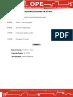 Documentación I Torneo de Futbol EAPA