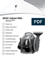 User Guide Bissell Spot Clean Pro