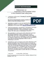 notice of referendum