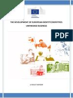 Development of European Identity Identities