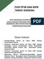 Kajian Revisi Pp38 Dan Nspk Setjen