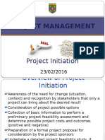 LECTURE 4 Initiation