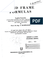 Kleinlogel Rigid Frame Formulas