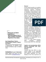 Secuelas Cognitivas y Neuropsicolcologicas TCE