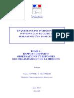 Rapport final de l'Igas sur l'essai clinique mortel à Rennes (Tome 2)