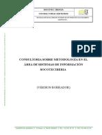 Consultoría sobre Metodología en el área de Sistemas de Información.doc