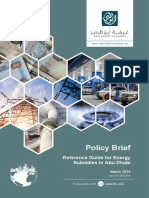 Ohan Balian 2016 Reference Guide for Energy Subsidies in Abu Dhabi. Policy Brief, Issue 03-24022016, March 2016.