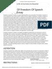 Freedom of Speech Philosophy Essay