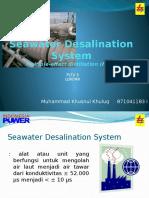 Seawater Desalination System MED