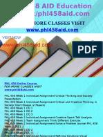 PHL 458 AID Education Expert/phl458aid.com