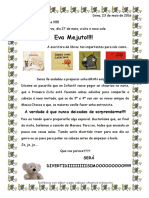 Visita Eva Mejuto . Carta Titorías.