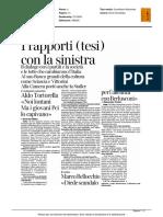Pannella, i rapporti (tesi) con la sinistra - Il Corriere della Sera del 20 maggio 2016