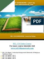 REL 134 HOMEWORK Learn by Doing/rel134homework.com