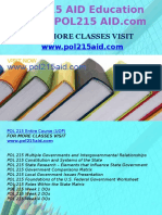 POL 215 AID Education Expert/POL215 AID.com