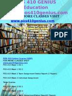 POS 410 GENIUS Education Expert/pos410genius.com