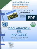 Exposición Conferencia de Rio
