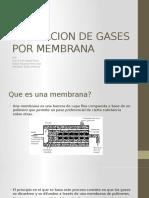 Separacion de Gases Por Membrana