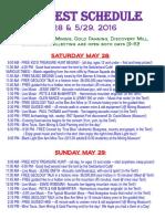 Schedule for MineFest 2016