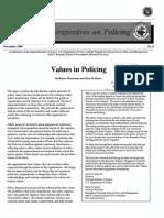 Values in Poliocing