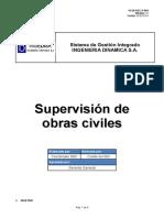 GI JS SGC P 001 Supervisión de Obras Civiles