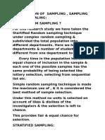 Justification of Sampling