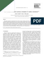 Internal Customer Orientation-market Orientation1