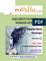 Aquarius Yearly Horoscope