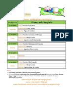 Ementa Berçário 23 a 27-05-2016