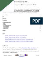 NotesOn Risk Management Datacenter Assessment - Part II