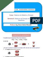 SEM N°6-BALANCE DE ENERGÍA EN PROCESOS REACTIVOS