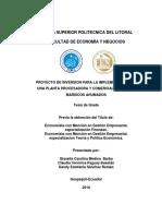 Proyecto Mariscos Ahumados Dorados