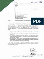 BOC Memo 2016-05-012 Manual Processing of PEZA Transshipment Applications