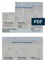 Lakewood's Foster and Becks Pool Hours 2016