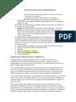 Preparación de Medicamento y Materiales I.M.
