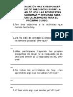 Evaluación 3º