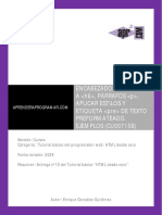 CU00715B Encabezados h1 - h6 p Aplicar Estilos Parrafos Etiqueta Pre HTML Var