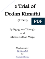 The Trial of Dedan Kimathi Ngugi Wa Thiongo